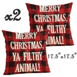 Set- 2 Awesome Christmas Pillow Covers